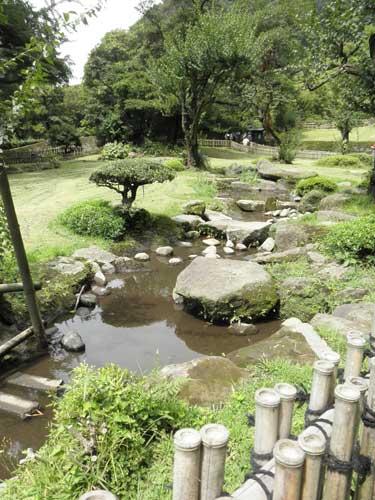 仙巌園曲水の庭
