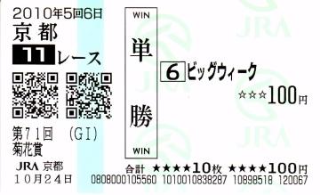 菊花賞馬ビッグウィーク障害試験に合格