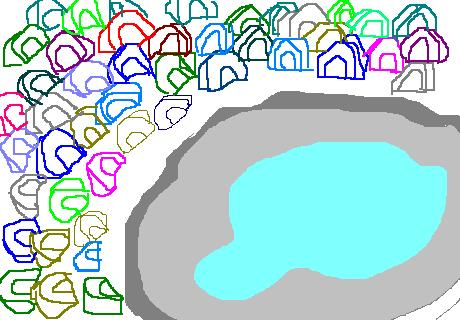 プールのテント