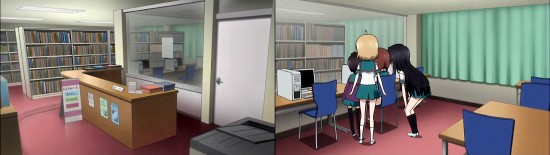 Aチャンネル 葵ヶ丘高校 図書室
