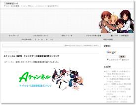 Aチャンネル(原作) キャラクターの扉絵登場回数ランキング