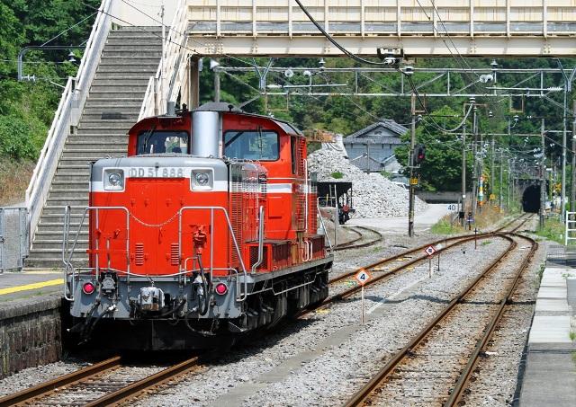 DD51-888 小野上駅