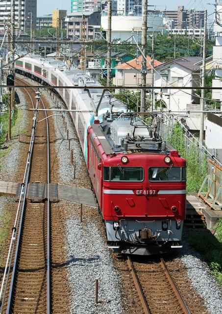 EF81 甲種 9371レ E657系10両