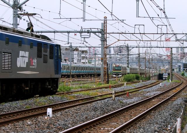 523m5列車同時撮影
