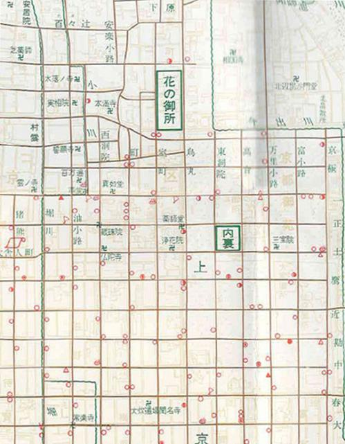 室町時代の京都地図