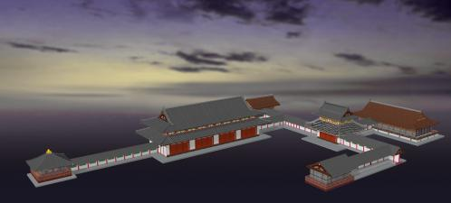 金剛心院-南東3D
