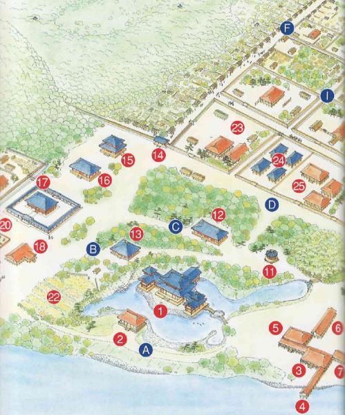 平等院伽藍図左