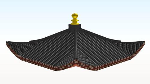 鳳凰堂方形屋根