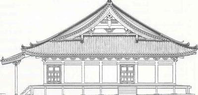 観心寺金堂立面図
