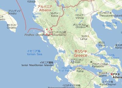 エーゲ海地図