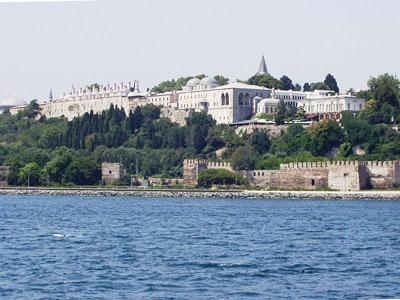 海上から見たトプカプ宮殿