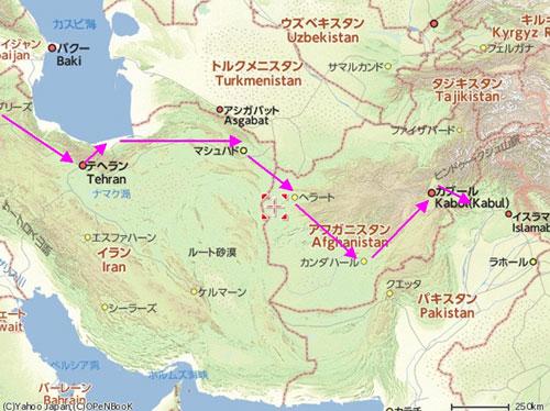 イラン・アフガン地図