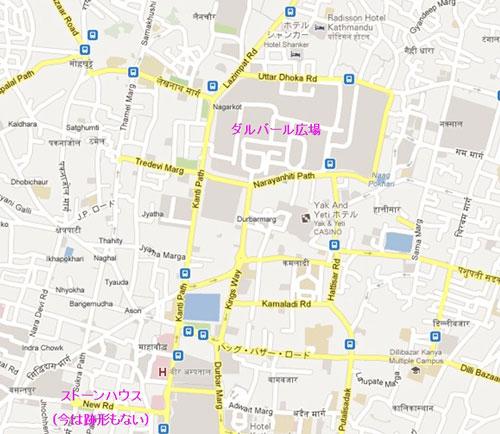 カトマンズ市内地図