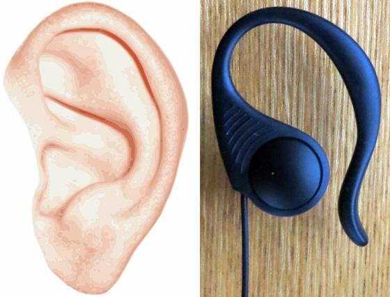 耳とイヤホン