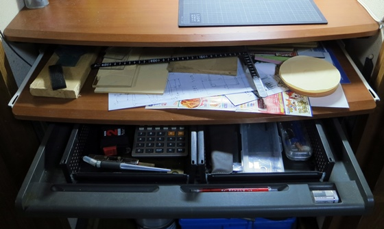 作業机改善前