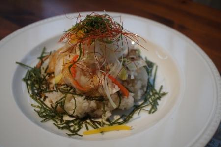 白身魚ライス