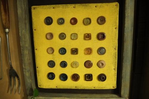 並んだボタン
