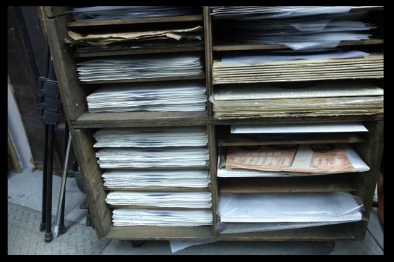 レコード箱。