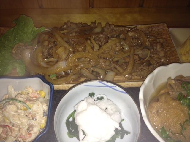 牛バラ焼き定食2