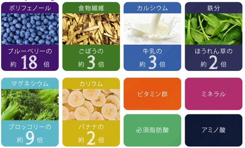 アサイーの栄養素 ベジーデル酵素スムージー