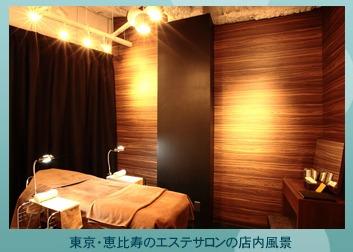 プリュ カーボニック リバイバルミスト 東京・恵比寿のエステサロンの店内風景