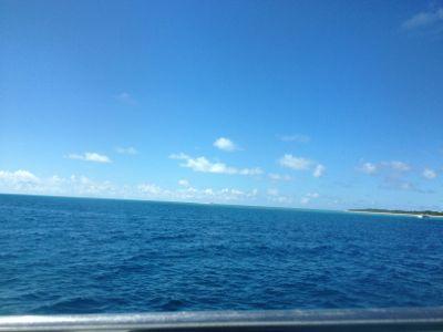 竹富島が見えてきました