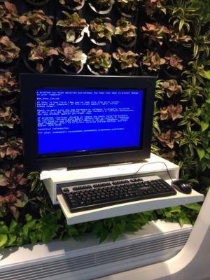 故障中のパソコン