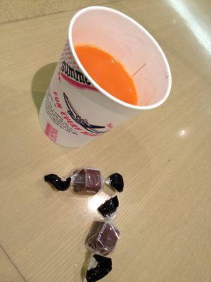 野菜ジュース+チョコレート