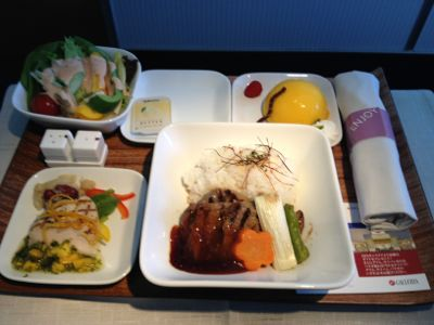 DL284便機内食
