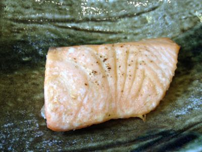 鮭の梅味焼き
