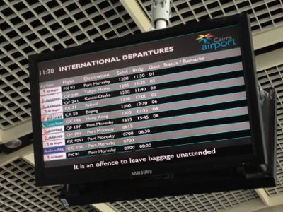 国際線出発ボード