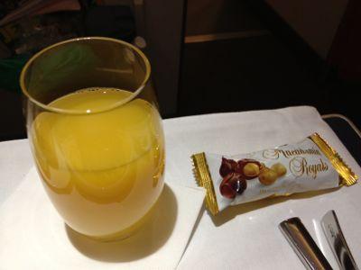 オレンジジュース・チョコ