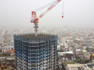 建設中のリュークスタワー