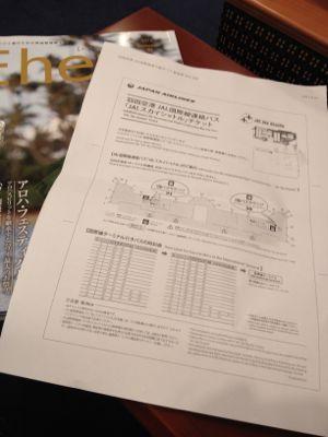 JAL国際線乗り継ぎバスのチケット