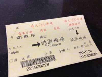 空港バスのチケット
