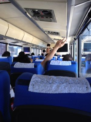 バスは大混雑です