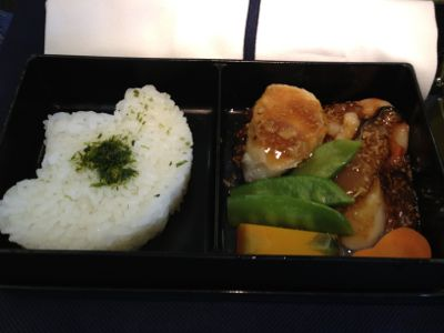 2012年7月の機内食ご飯と前菜