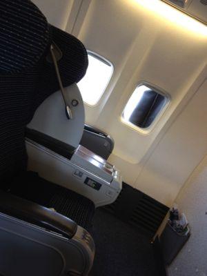ボーイング737の椅子