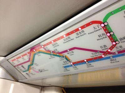 荃湾線路線図