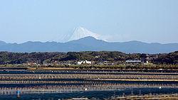 浜名湖と富士山