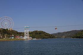 浜名湖の内浦をまたぐ かんざんじロープウェイ(20134)
