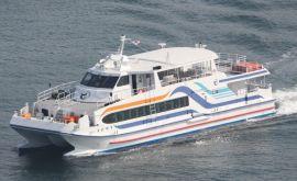 現在2艘目の定期高速船「かがやき」平成21年5月から運航している