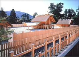 建て替えられたばかりの内宮正宮(写真は平成5年のもの)