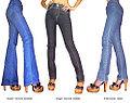 1971年ベルボトムのジーンズ