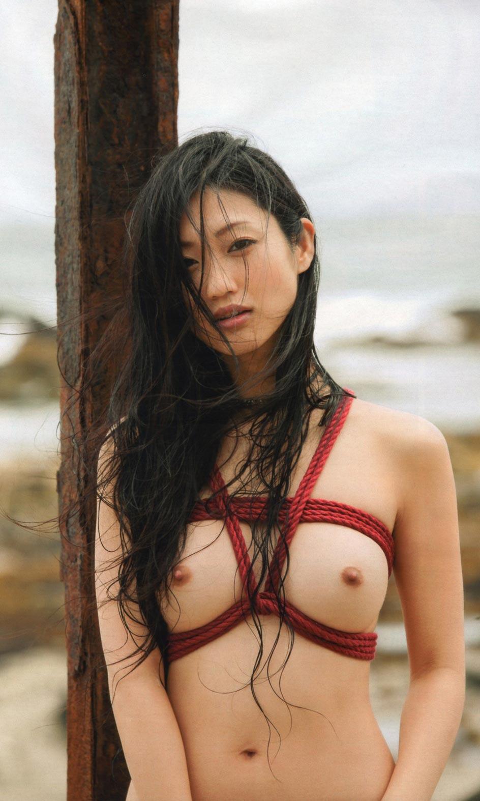 壇蜜 セクシー ヌード おっぱい 乳首 縛り カメラ目線 高画質 エロかわいい画像