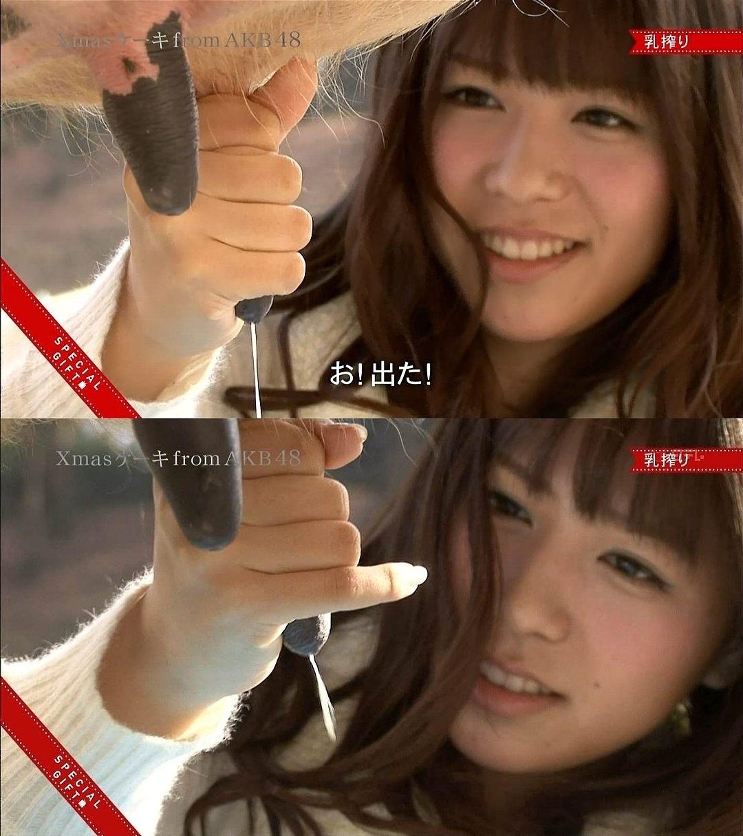 AKB48 河西智美 セクシー 乳しぼり 擬似手コキ キャプチャー 高画質 エロかわいい画像