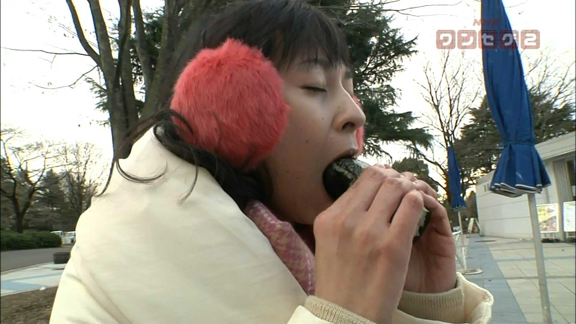 NHK女子アナ ブラタモリ 久保田祐佳 顔アップ 口開け フェラ顔 エロかわいい画像