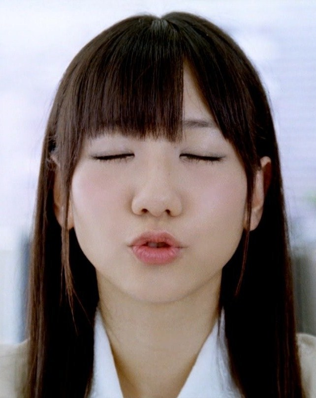 AKB48 柏木由紀 セクシーキス顔 ワンダCM OLコスプレ 顔アップ 唇 エロかわいい画像