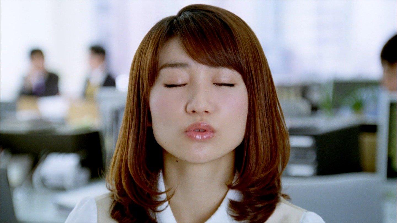 AKB48 大島優子 キス顔(高画質) ワンダCM セクシーOLコスプレ 顔アップ 唇 エロかわいい画像