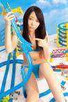 HKT48 指原莉乃 セクシー 青ビキニ水着 おっぱいの谷間 困り顔 おへそ カメラ目線 股間食い込み 高画質エロかわいい画像4